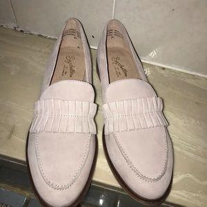 SEYCHELLES Suede Loafer Flats Nude Sz 9.5 NWOT